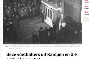 Omgekomen voetballers in Kampen en Urk